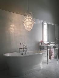 decorate chandelier for the bathroom