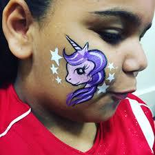 unicorn cheek art easy face painting ideas vallejo
