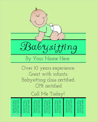 Babysitting Flyer Template Microsoft Word Free 11 Babysitting Flyers Word Psd Ai Eps Vector Free