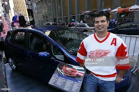 Frank Artusa, winner of the Honda Fit Sport automobile awarded by ...