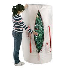 Heavy Duty Canvas Christmas Tree Storage Bag Elf Stor Premium White Holiday Christmas Tree Storage Bag Large For 8