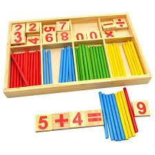 Game With Wooden Sticks Children Kids Baby Manipulatives Wooden Preschool Counting Sticks 29