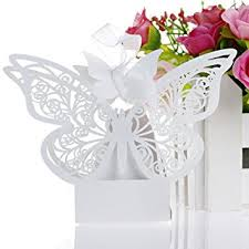 Amazoncom Ohtop 50pcs Paper Butterfly Wedding Cake Candy Box Party
