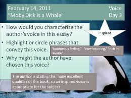 "voice ""moby dick is a whale"" day how would you   14 2011 voice moby dick is a whale day 3 how would you characterize"