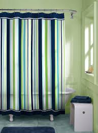green striped shower curtain lemon lime smlf shower