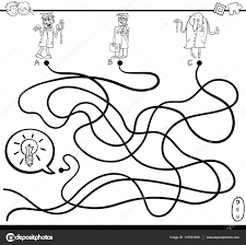 Idee Doolhof Spel Kleurplaat Stockvector Izakowski 137501028