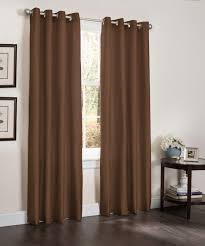 blackout window curtain panel 54 x 90 faux silk thermal insulated grommet top erin 1 panel chocolate com
