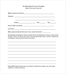 Accident Report Template Workplace Incident Report Template Form