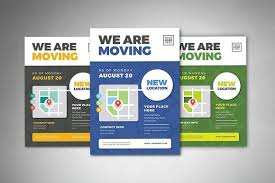 Moving Flyer Template We Are Moving Flyer Templates By Vectorvactory On