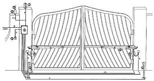 kit mydiamond automated electric double swing gate opening kit these diagrams show the gates closed and the operator mounting brackets fixed to the back face of each pillar from inside the property
