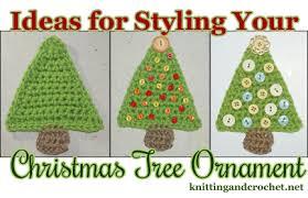 Easy Christmas Tree Ornament To Crochet Knitting And Crochet