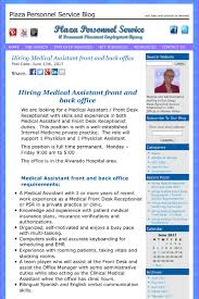 Medical Assistant Back Office Duties Hiring Medical Assistant Front And Back Office Medical