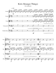 sheet music for kids kids stranger things sheet music for violin viola cello