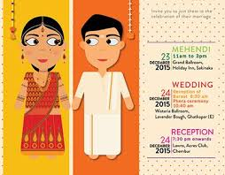 Cartoon Style Indian Wedding E Invite Perkawinan India In 2019