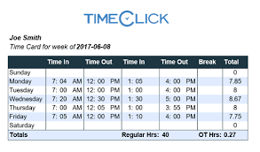 Timeclicks Free Online Time Card Calculator