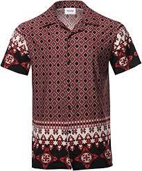 Youstar Men's Casual Printed <b>Hawaiian Style</b> Short Sleeves Shirt at ...