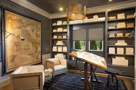 library office. Gray Built In Bookcase Library Office U