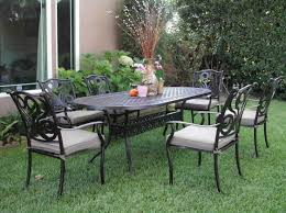 patio furniture metal metal patio furniture sets black theme table and chair with pink vase lemon vase flower on the side of home
