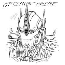Small Picture Optimus Prime Coloring Pages Transformers Pinterest
