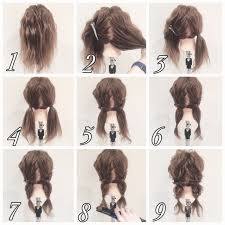 髪のチュートリアルです髪型ツイストお団子のチュートリアルですお