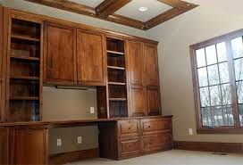 home office wall unit. Home Office: Custom Built Wall Unit / Desk, Wood Accented Ceiling; Luxury Homes Office