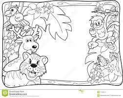 Small Picture Jungle Animal Coloring Pages jungle animals coloring pages for