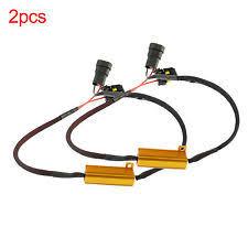 led resistor v 2x 9005 9006 h10 led bulb fog drl flicker load resistor wiring harness decoder