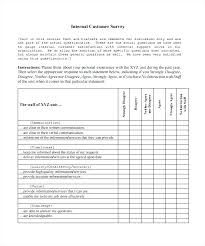 Customer Satisfaction Survey Template Excel Customer Service Satisfaction Survey Template
