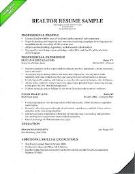 How To Write A Real Estate Resume Resume Objective For Real Estate