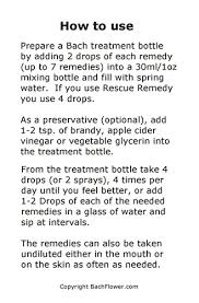 Bach Flower Remedies Chart Free Literature How To Take The Bach Flower Remedies