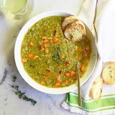 vegetarian slow cooker split pea soup