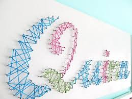wall art ideas design hanging girls personalized name wall art embroidery hoops with fabric string cut aqua gray white stained hearts personalized name  on personalized wall art names with wall art ideas design hanging girls personalized name wall art
