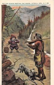 17 best images about rip van winkle literatura group of 4 catskills new york rip van winkle antique postcards j16288
