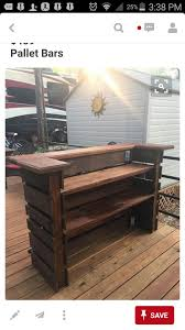 outdoor pallet wood. Pallet Bar. Most Efficient Use, Looks Like Two Paver Pallets, Wood Shelves, Bar Top. Outdoor
