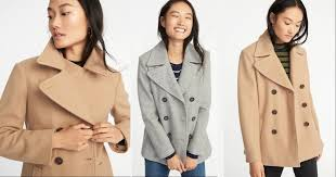 old navy women s peacoat just 25 regularly 60