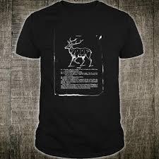 Deer Hunter Vintage Butcher Chart Vintage 1800s Cookbook Shirt