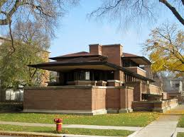 The Frederic C Robie House is one of the many examples of Frank