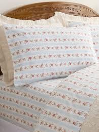 Ticking Stripe Bedding | Vintage Rose Print Sheets & Petite Rose & Ticking Stripe Percale Sheet Set Adamdwight.com