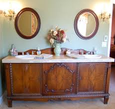 antique furniture style bathroom vanity. antique sideboard buffet turned into double sink vanity traditional-bathroom furniture style bathroom i
