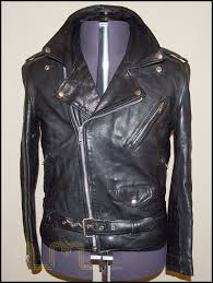 vintage classic brando leather biker jacket item no 71