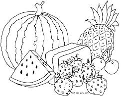 Printable Fruit Coloring Pages Printable Fruit Colouring Pages
