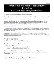 Bachelor Of Laws Bachelor Of Information