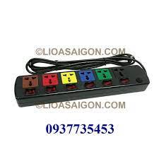 Ổ cắm điện LiOA 6 lỗ 3 chấu 6 công tắt LiOA 6DOF33N - LIOASAIGON.COM