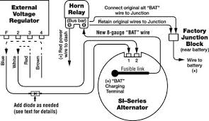 wiring diagram for an alternator delco alternator wiring diagram external regulator delco typical wiring diagram alternator