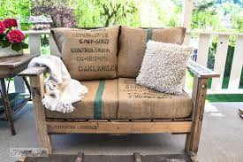 pallet wood sofa made from 2 complete pallets via s