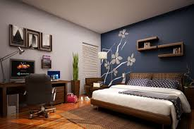 Painting One Wall Aqua Blue Glamorous Bedroom Paint And Decorating Ideasone  Apartment Ideas