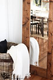diy wood mirror frame. Plain Mirror DIY Framed Mirror Perfect Touch Of Farmhouse By The Wood Grain Cottage To Diy Mirror Frame
