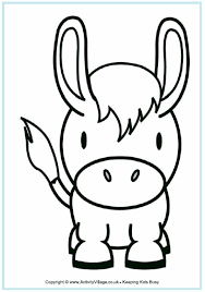 Small Picture Donkey Colouring Page