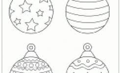 christmas ornament printable templates