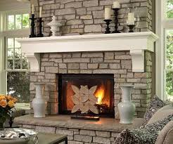 stone fireplace luxury stone fireplace white wood mantel painted fireplace